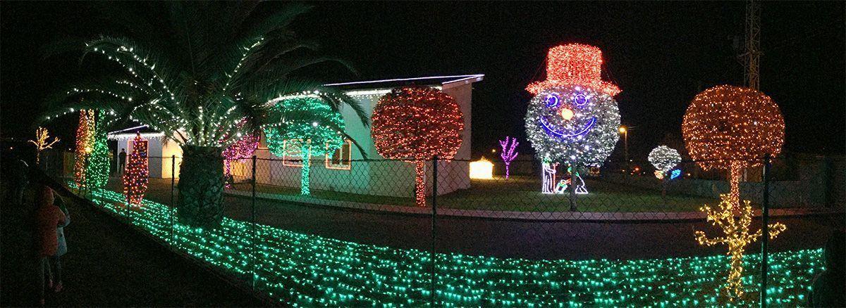 Casa de luces de Navidad de Parbayón