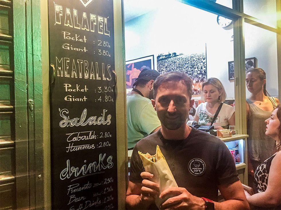 Donde comer en Atenas - Falafellas