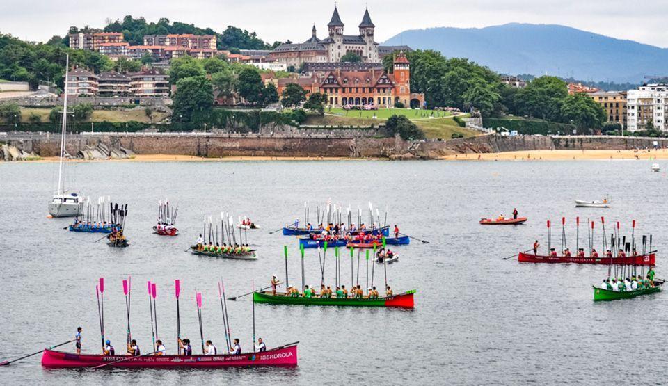 Regata de traineras en San Sebastián