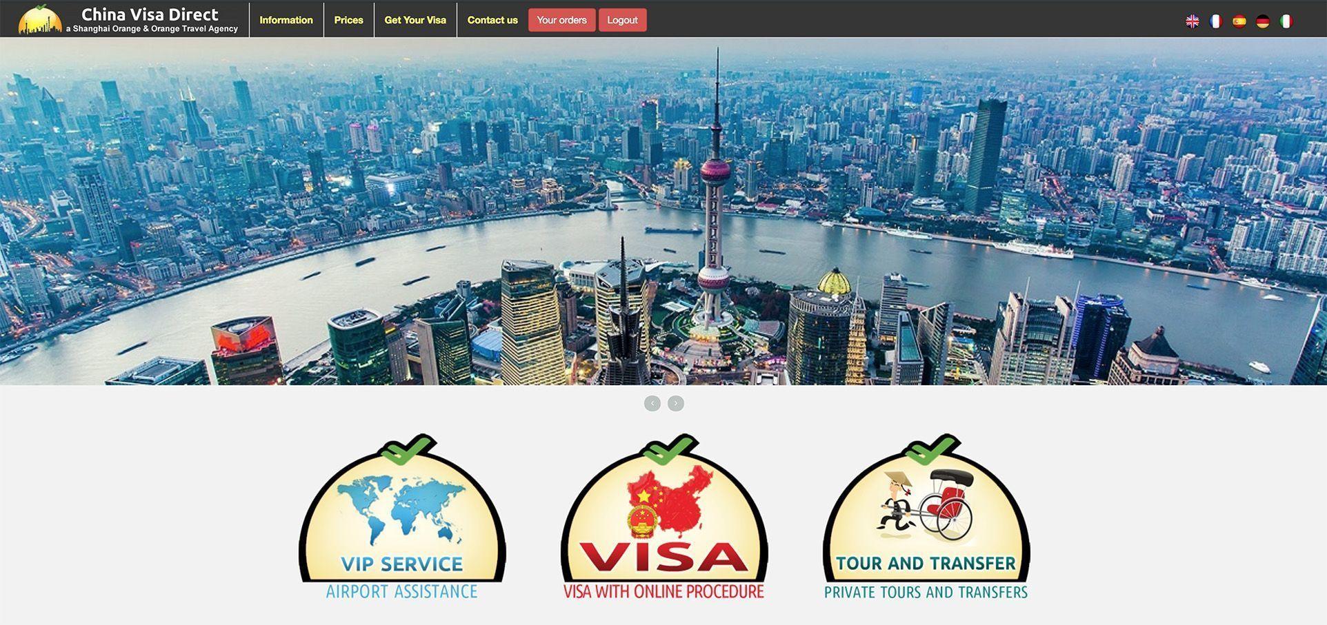 Visado de grupo para China