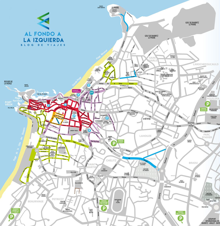 Aparcar en Biarritz gratis - Parking gratuito en Biarritz